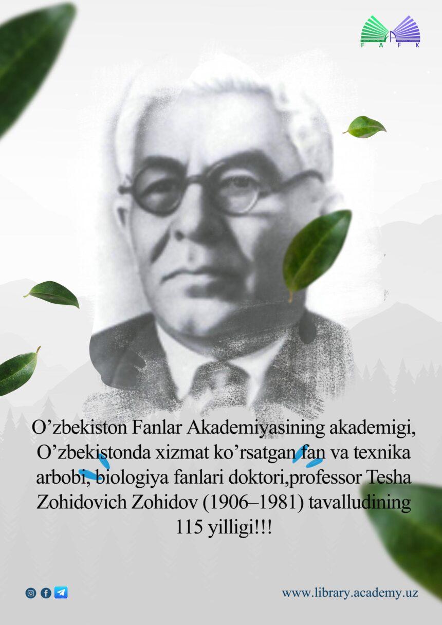 Tesha Zohidovich Zohidov (1906-1981)