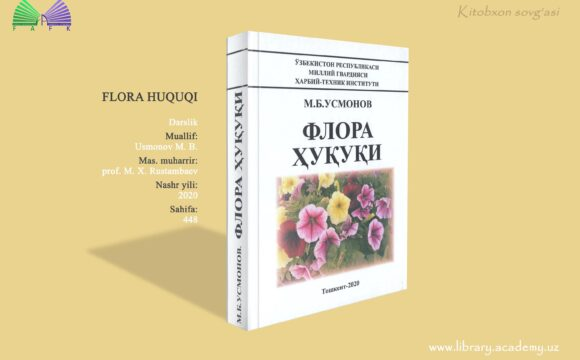 """""""Flora huquqi"""" o'quv darsligi 2 nusxada."""
